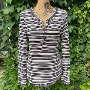 LUCKY BRAND Henley Pullover, L